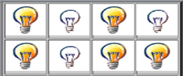 资料 聊吧 好友排行 总排行  游戏简介 点中任意一个灯泡开关